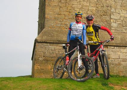 On top of Breedon Hill with Marcus