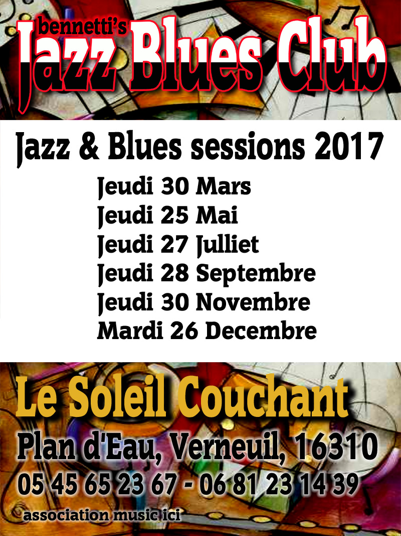 Jazz n Blues Club Dates 2017
