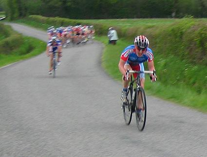 Attacking the bunch out of sheer frustration at St Leger Magnazeix