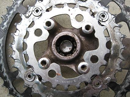 Bodgetastic!!! A shimano granny ring bodged onto a Specialized Four Arm Chainset