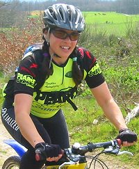 Carla on one of her training rides