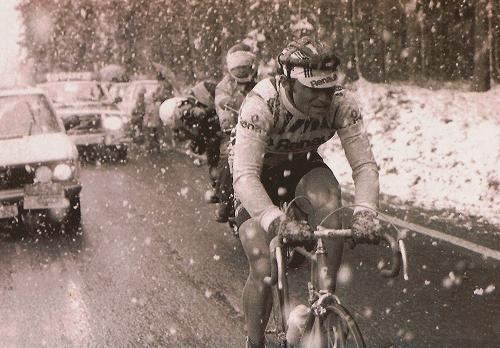 Hinault suffering, or maybe he's not…. Certainly he's no fool!