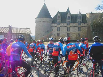 Riders meet at the Chateau in Rochechouart