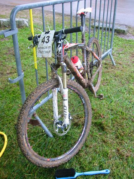 my poor bike after the race
