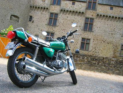 My KH400 at the Chateau in Rochechouart